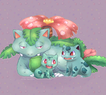 Bulbasaur - Evolutionary Line by WualdhO