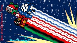 Holiday Nyan Cats by HalloDream
