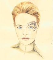 seven of nine star trek by morgansartworld