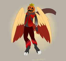 Hatched Egg Adopt: Pumpkin-head Harpy by CannibalHarpy