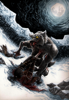 Fight with werewolf by Ruchiel