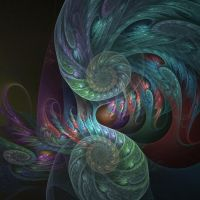 Feathered Spirals II by anjaleck