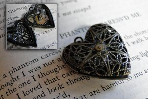 phantom caress - locket by TheClockworkCrow