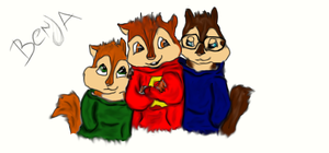 Alvin and the chipmunks by BenjaSeville