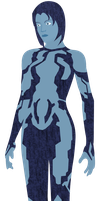 Halo 3 - Cortana (vector art) by Floodgrunt