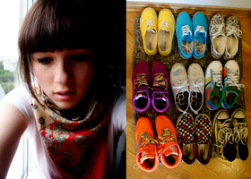 colorful shoes by zuzannamaria