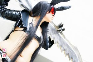 Black Rock Shooter and Black Gold Saw 3 by Feywilde