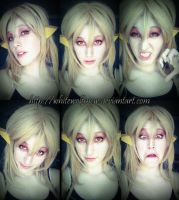 Cheetara Makeup test + Derpage by niicakes