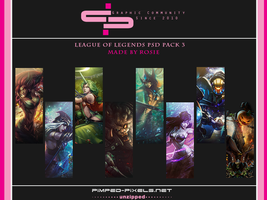 League of Legends PSD Pack 3 by Rosie-0509