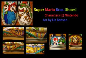 Super Mario Bros. Shoes by soccercat4685