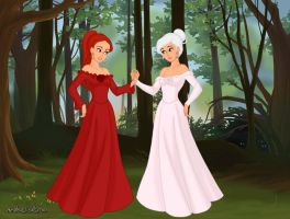 Fairytale Scene Maker: Snow White and Rose Red by DragonWitch1469