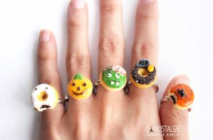 Eerie and gruesome Halloween Doughnut rings by LaNostalgie05