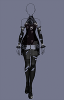 (closed) RE-Auction Adopt - Goth Outfit 2 by CherrysDesigns