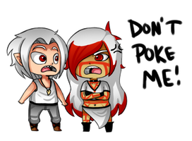 Don't Poke Me - PC by SuperHeroPattyFatty