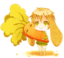 Bunny Iggy and Iggy carrot by Caramel-Kon