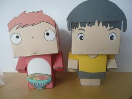Ponyo and Cubees by studioofmm