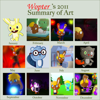 2011 summary of art by Wopter