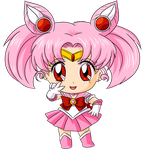 Commission: Chibi Sailor Chibi Moon for Katie0513 by MrSniffy