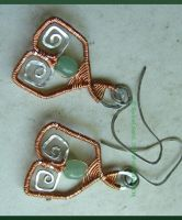 Heart Chakra Earrings by Delicious-Filth