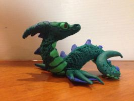 Sea Dragon Sculpture - Update 1 by Wolphyre