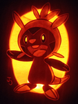Grass Type- Chespin Pumpkin by johwee