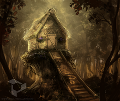 Baba Yaga's Hut by N-A-R-I