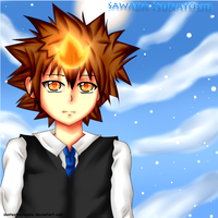 KHR - Tsuna by GreenTea-Ice