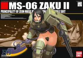 Zaku II Girl Mass production by dcwj