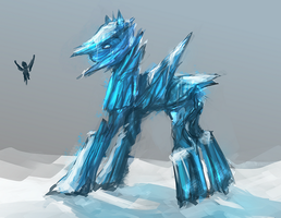 MLP ice golem pony auction 21 CLOSED by ElkaArt