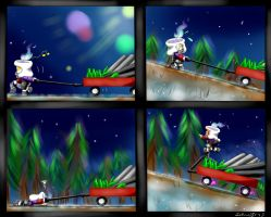 Gift Wrapping Part 2 Traveling Home by DreamingMystic