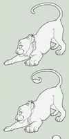 Free Big Cat Lineart by S-Nova