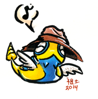 dunsparce in a floppy hat by not-fun