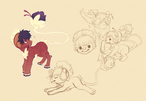 .:Critter doodles:. by Pieology