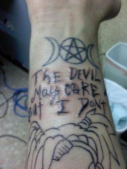 Otep Lyrics Tattoo/ Wiccan Star by ThreeCuts3x3