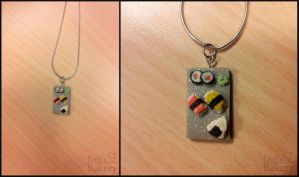 Gift: miniature sushi necklace by EmisBakery