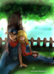 Jack and Claire's Rest Time by hamu2