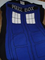 Tardis Blanket by queen382