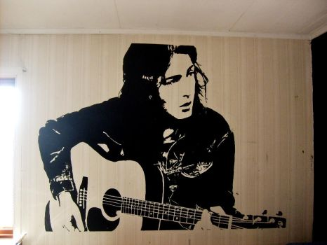 Rory Gallagher Wall Painting by Burkpuk