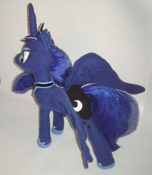 Princess Luna Plushie - My Little Pony FIM View 2 by AmethystArmor