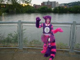 Cheshire Cat by the river 2 - Anthrocon 2012 by toberkitty