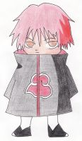 Sasori chibi color version xD by RubinaUchiha
