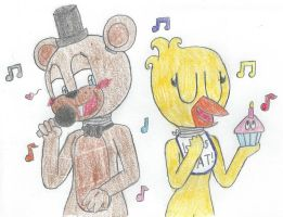 Freddy and Chica by cartoongirls115
