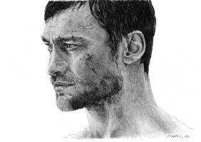 Andy Whitfield as Spartacus wip by Mafin10