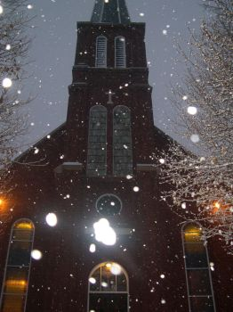Church in snow by imprialmog