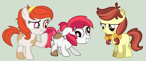 MLP: Apples and British accents *PipBloom Sisters* by Strawberry-Spritz