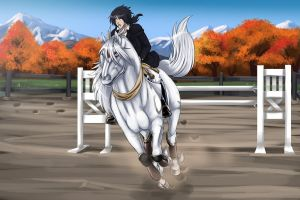 Shirakami Show Jumping by WolfsMoon1