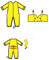 Pikachu Onesie by CeshionCo