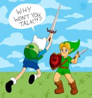 Link vs Finn by -coldfusion-