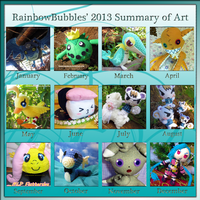Year in Art - 2013 by Rainbowbubbles