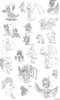 Sketch Dump July 2nd-8th by SycheTheDragon